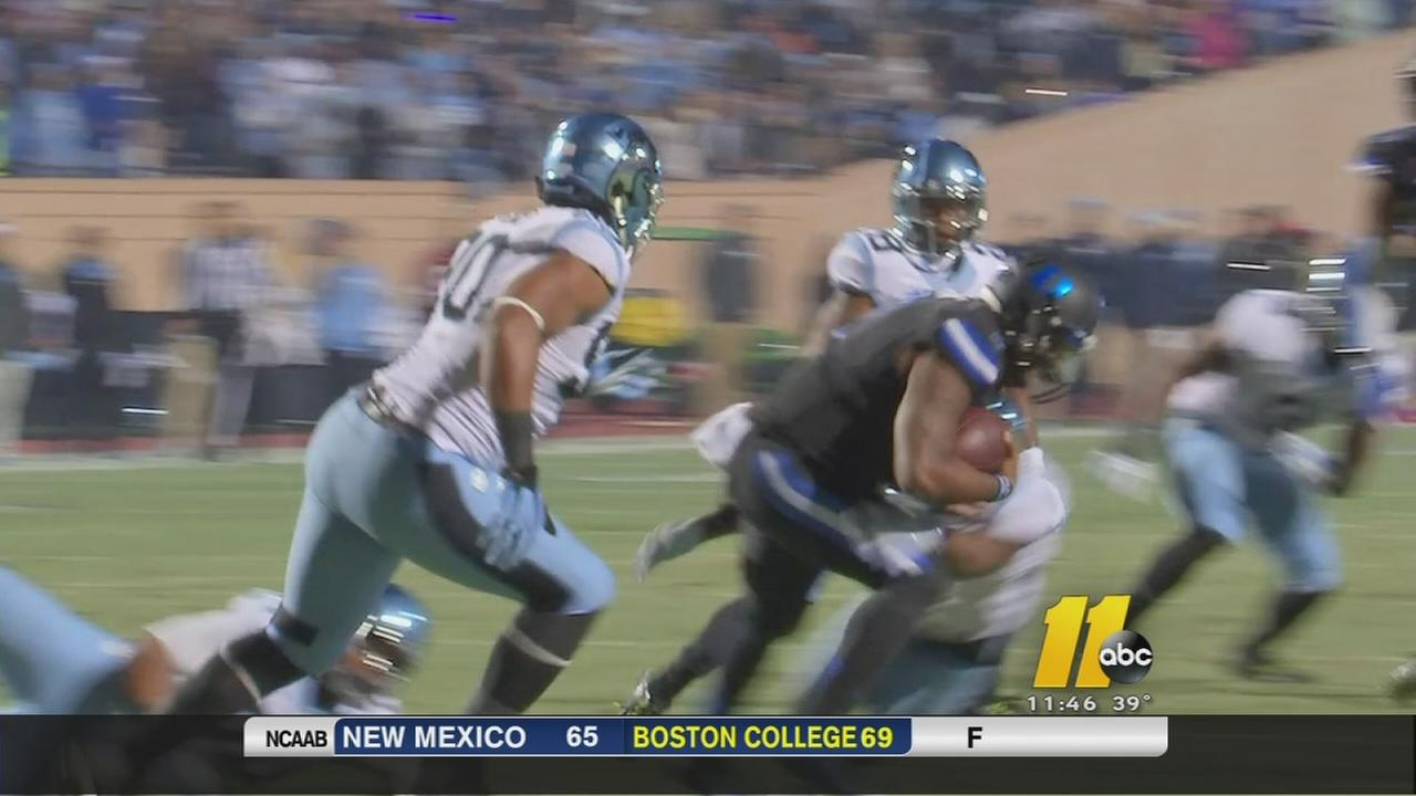Williams leads UNC to 45-20 rout of No. 25 Duke