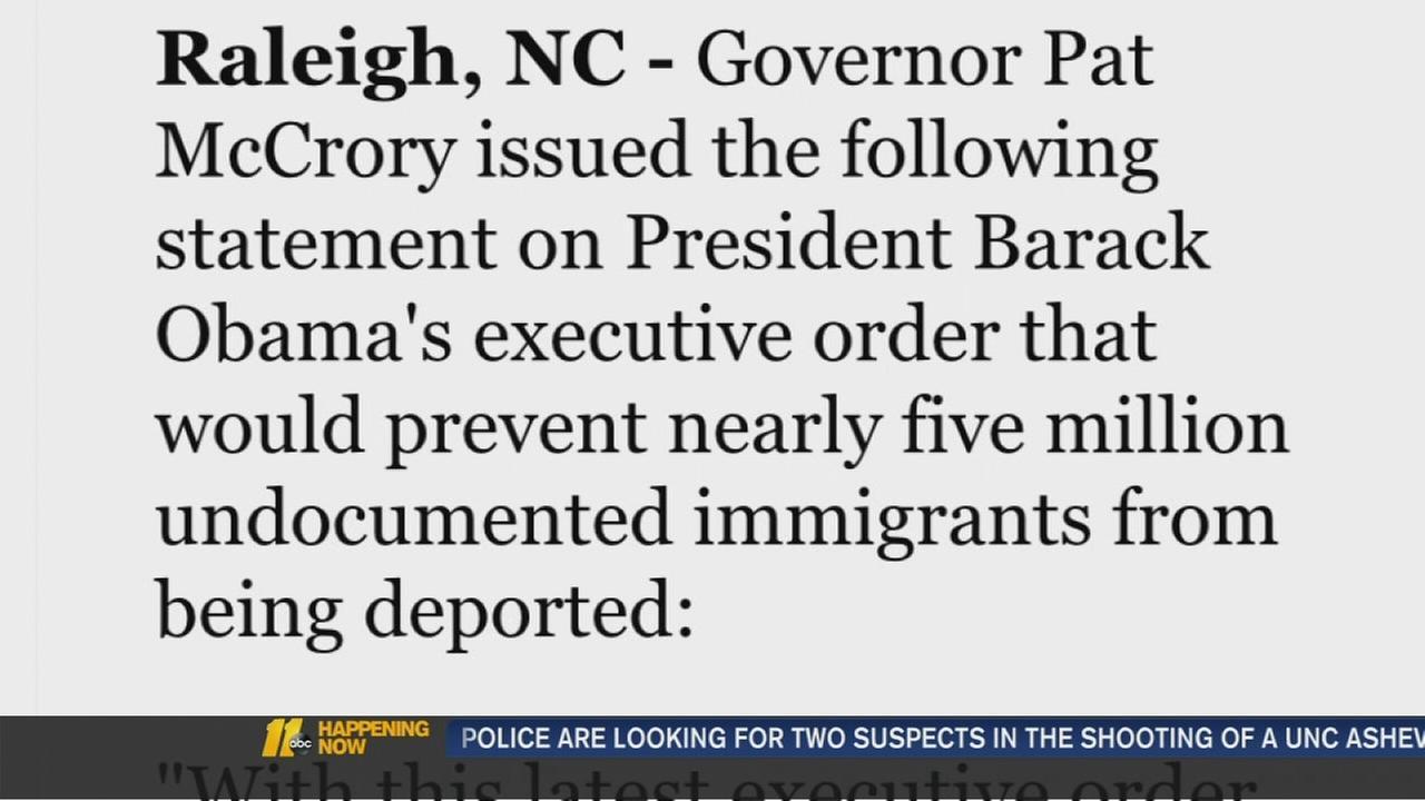 McCrory response to Obamas immigration plan