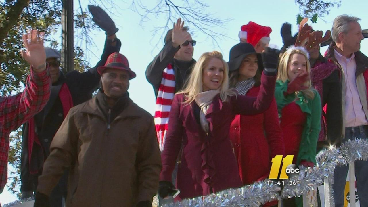 Large crowds attend Raleigh Christmas Parade