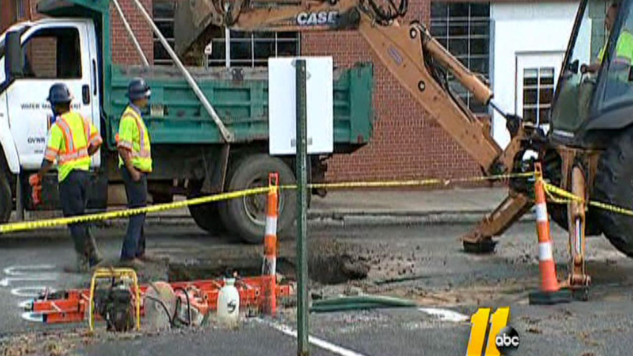 Durham water main break