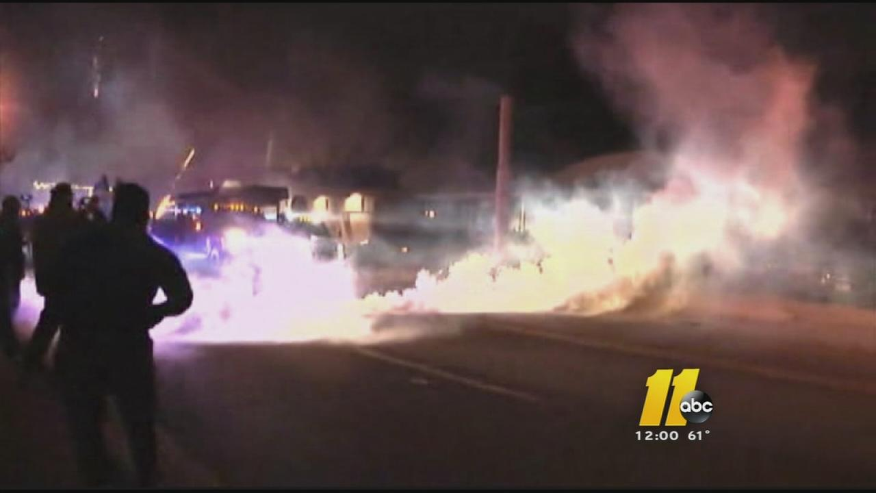 Rioting followed the grand jury announcement