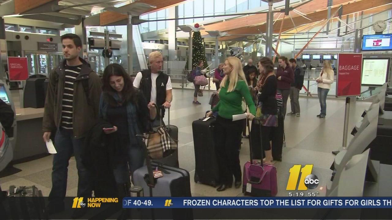Travel rush begins at RDU Airport