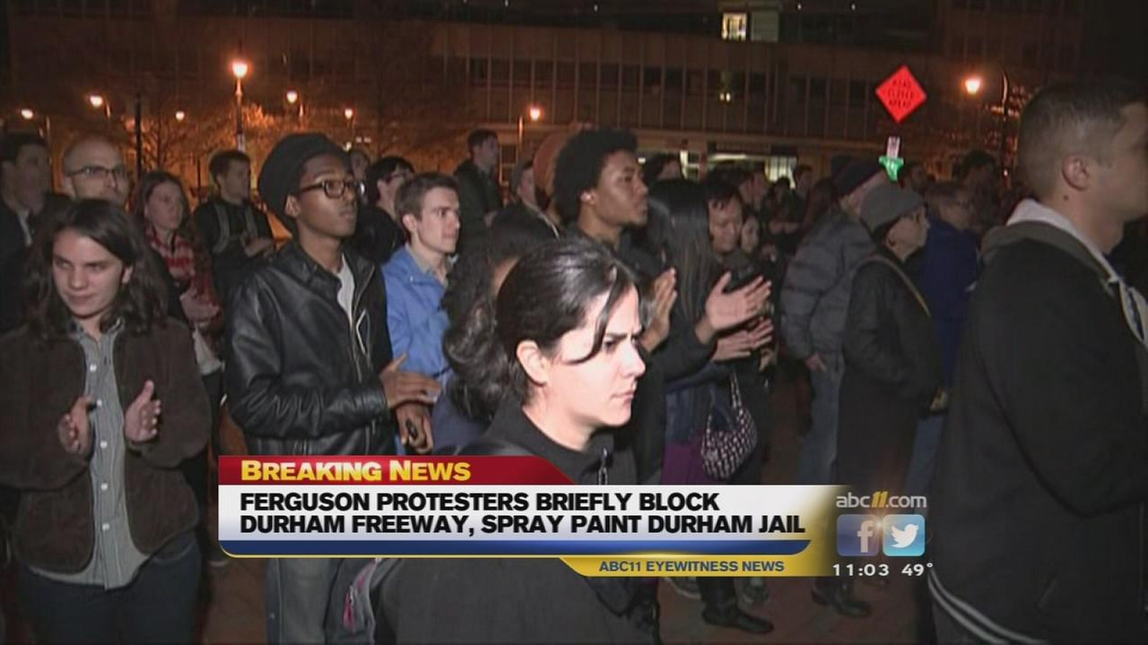Rallies held across Triangle in response to Ferguson decision
