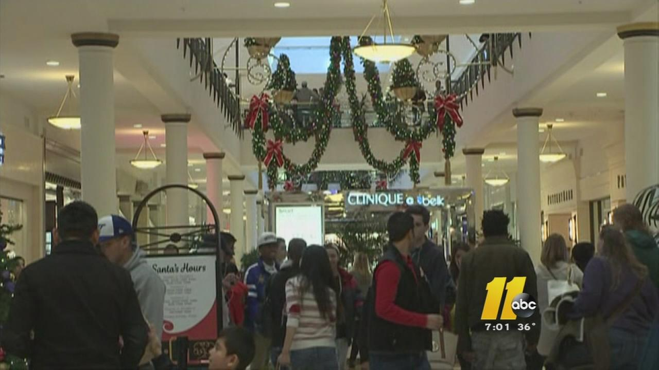 Shoppers packed the malls on Black Friday