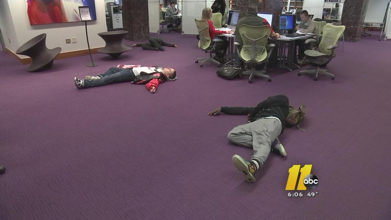 NC State students protest against Eric Garner, Michael Brown decisions