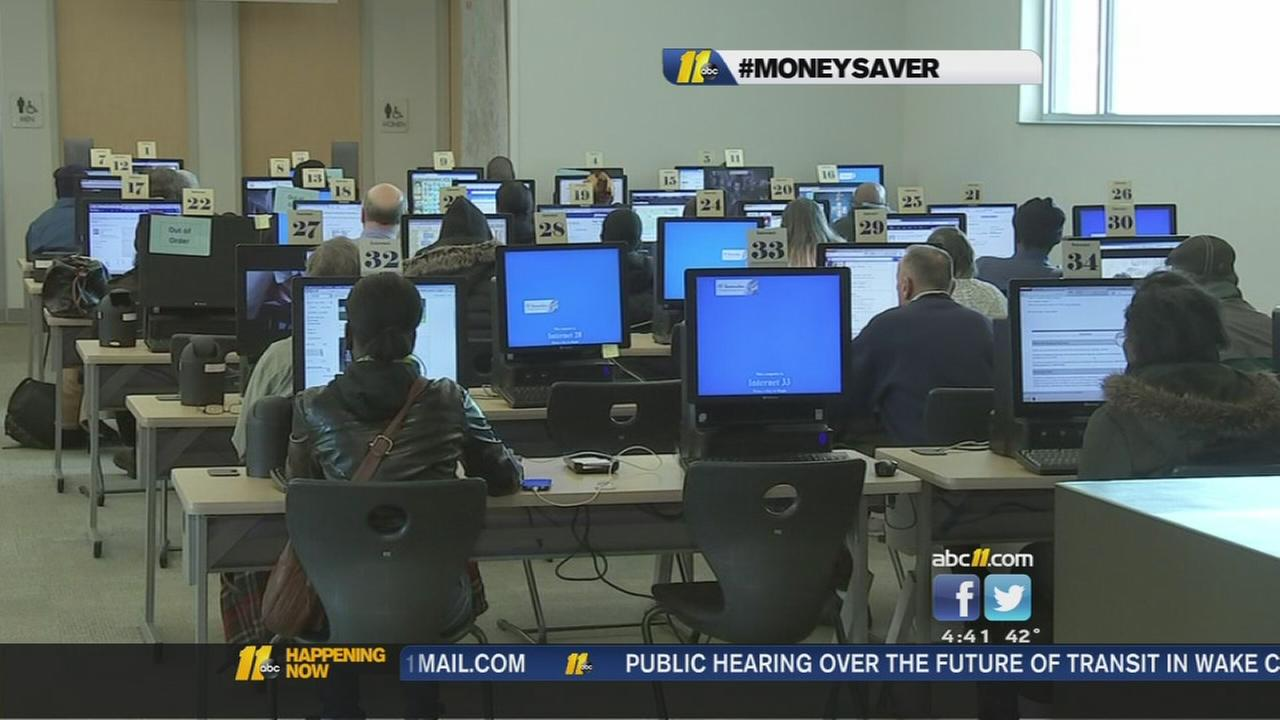 Free proctoring available at Wake County libraries