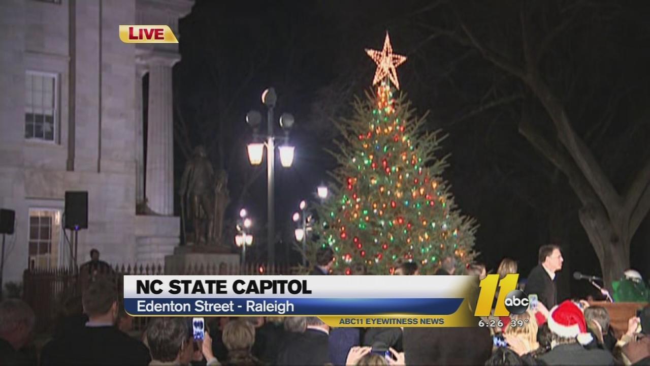 NC Capitol tree lighting