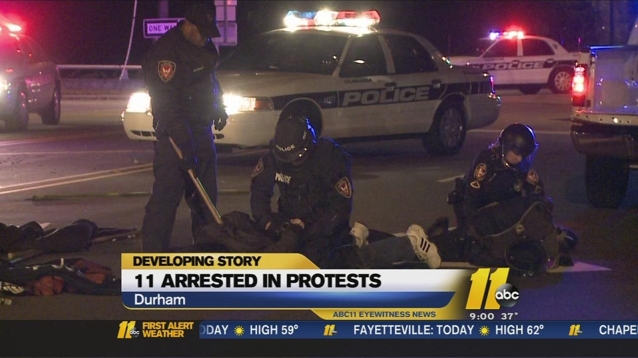 11 arrested in Durham protest