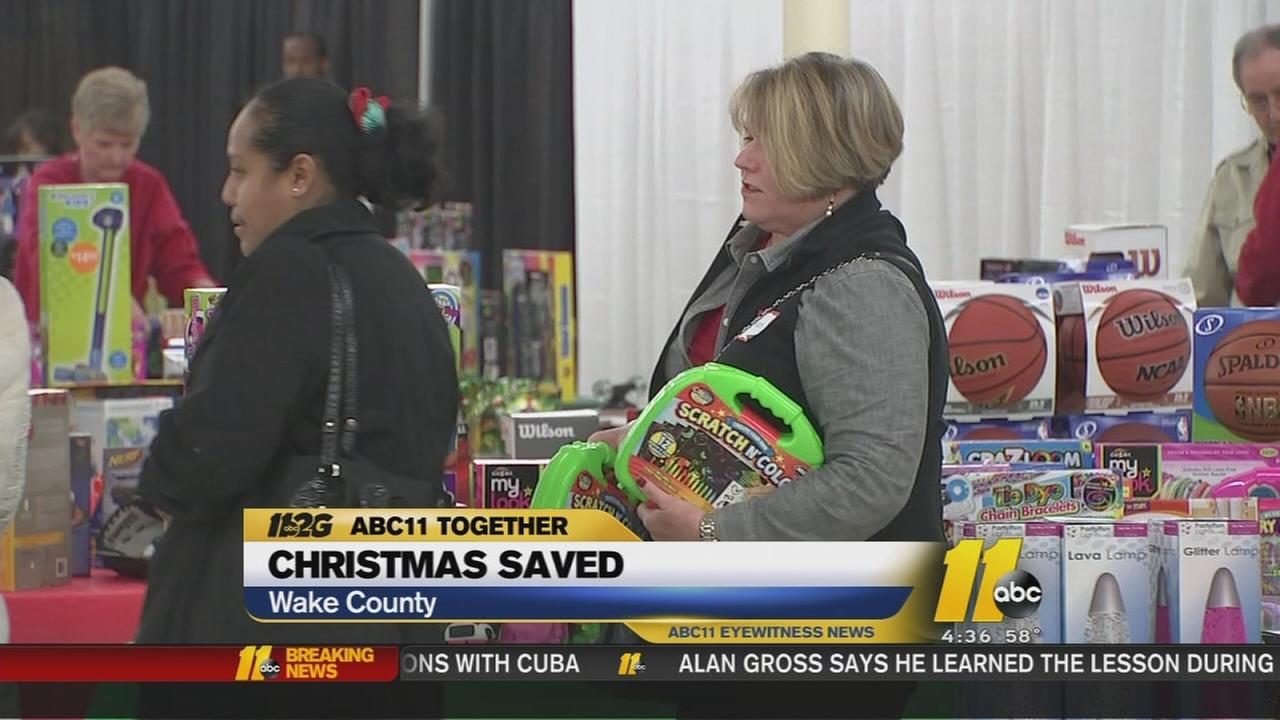 Families line up for Angel Tree gift distribution