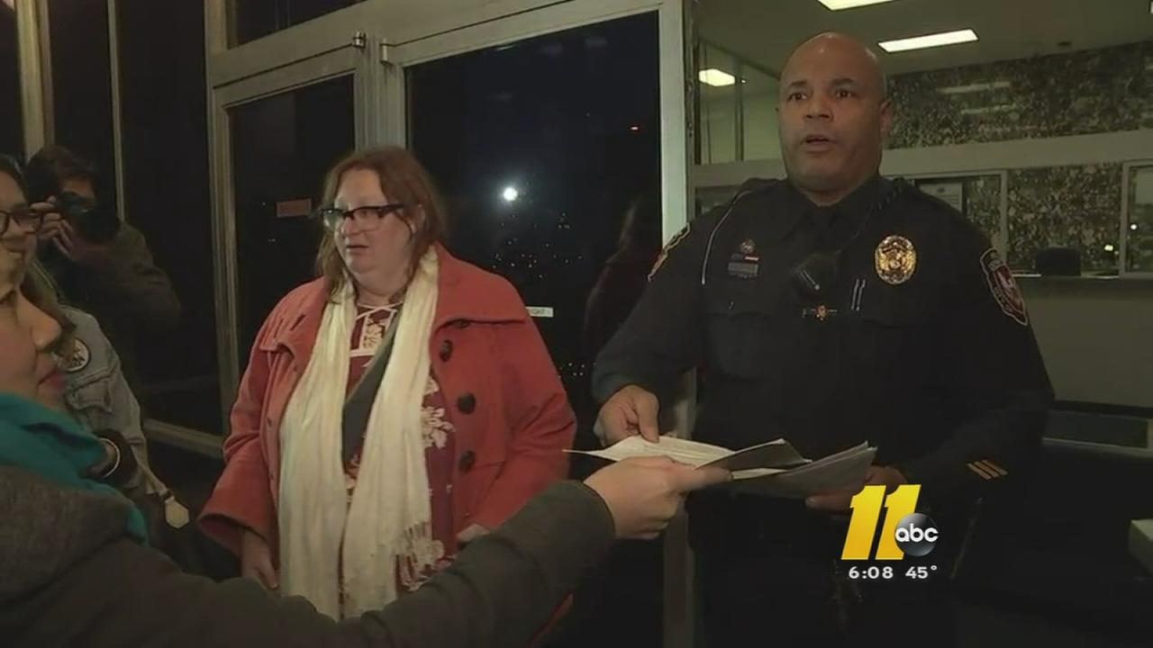 Petitions delivered to Durham police