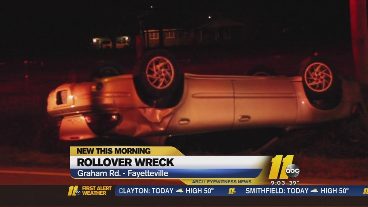 Fayetteville police investigate suspicious rollover wreck