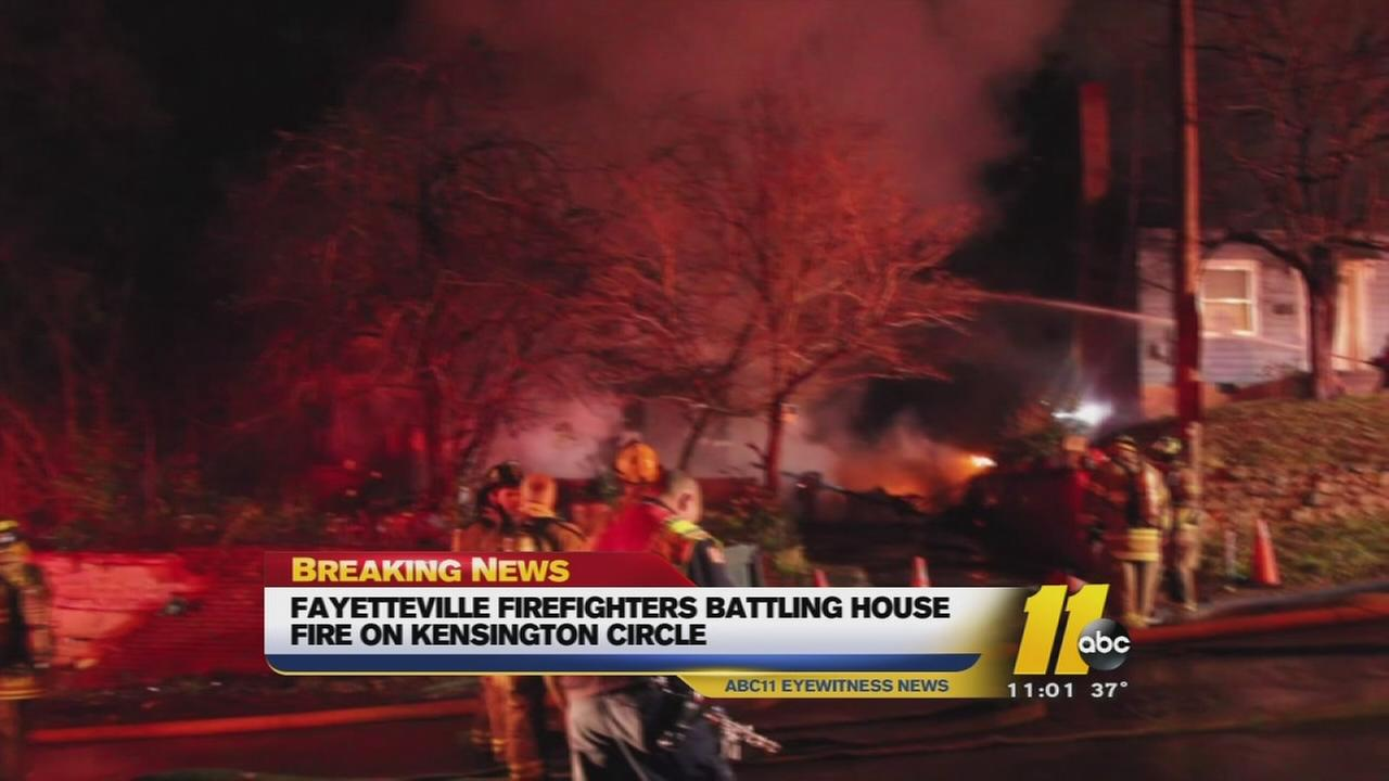 Fire damages 2 Fayetteville homes