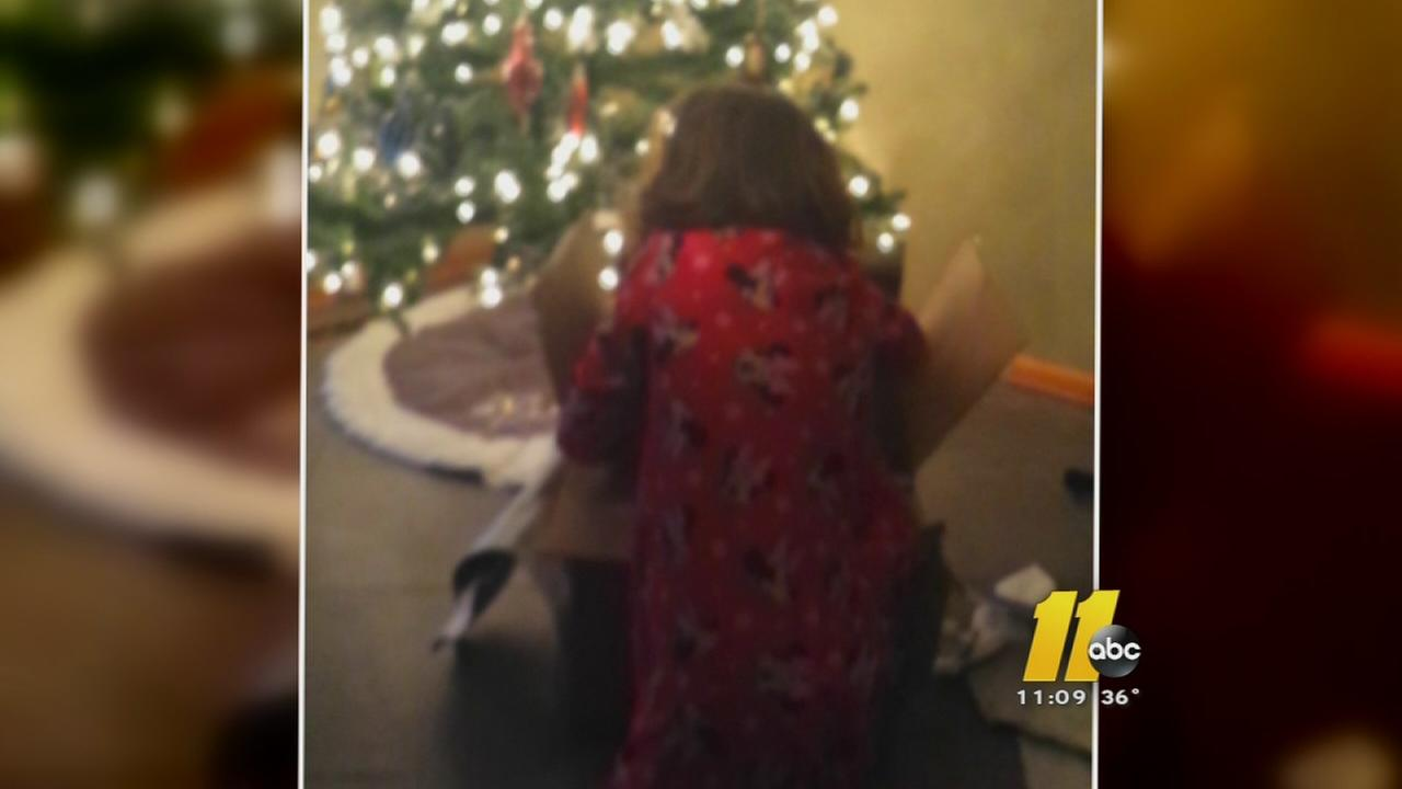 Cary girl gets to open lost Christmas gift