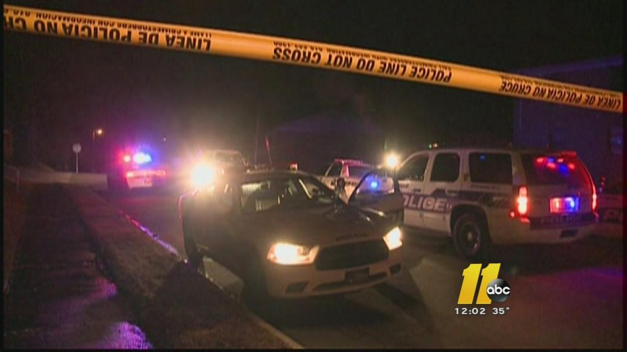 Police trade gunfire with men