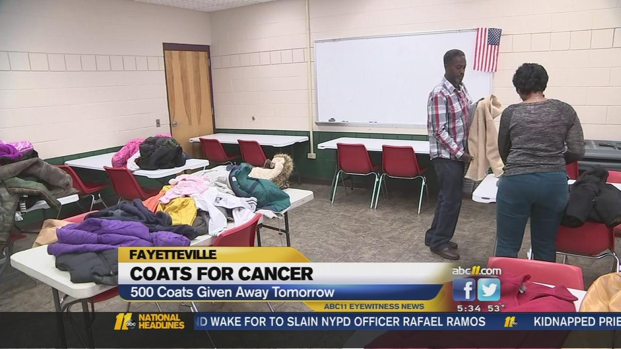Fayetteville man honors late wife with coat giveaway