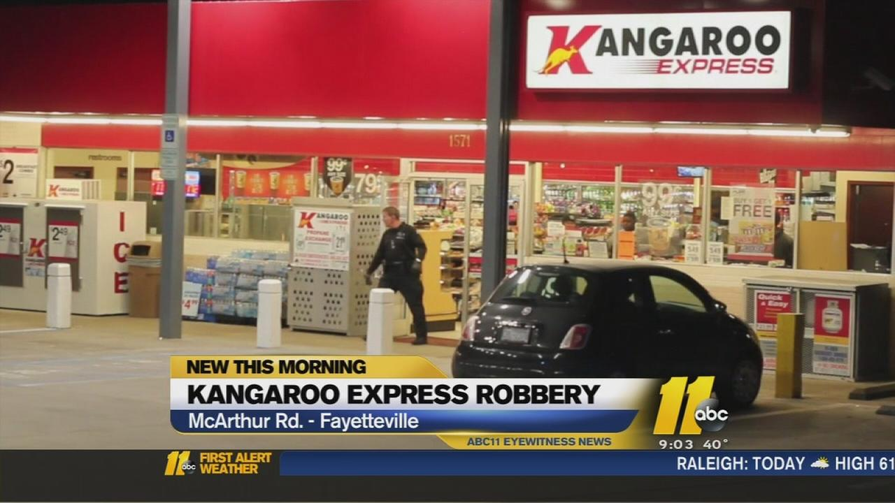 Authorities search for suspect in armed robbery in Fayetteville