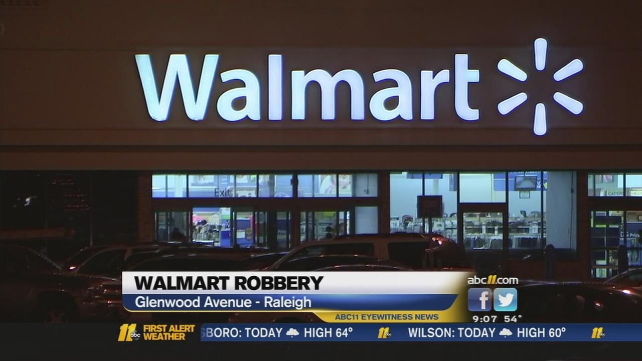 Raleigh police search for suspect in Walmart robbery