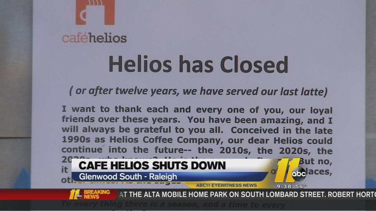 Cafe Helios shuts down with no notice