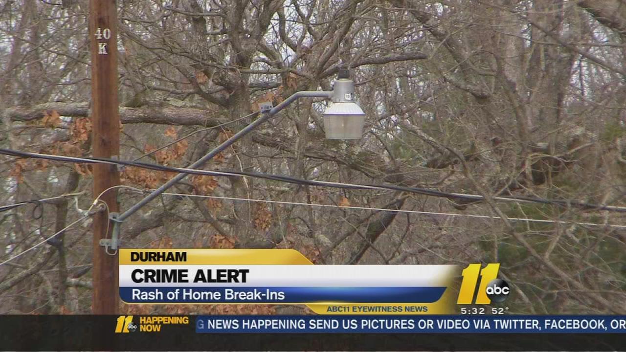 Rash of burglaries have north Durham County residents on edge