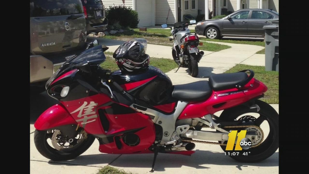 Fort Bragg couple hope for return of their motorcycle