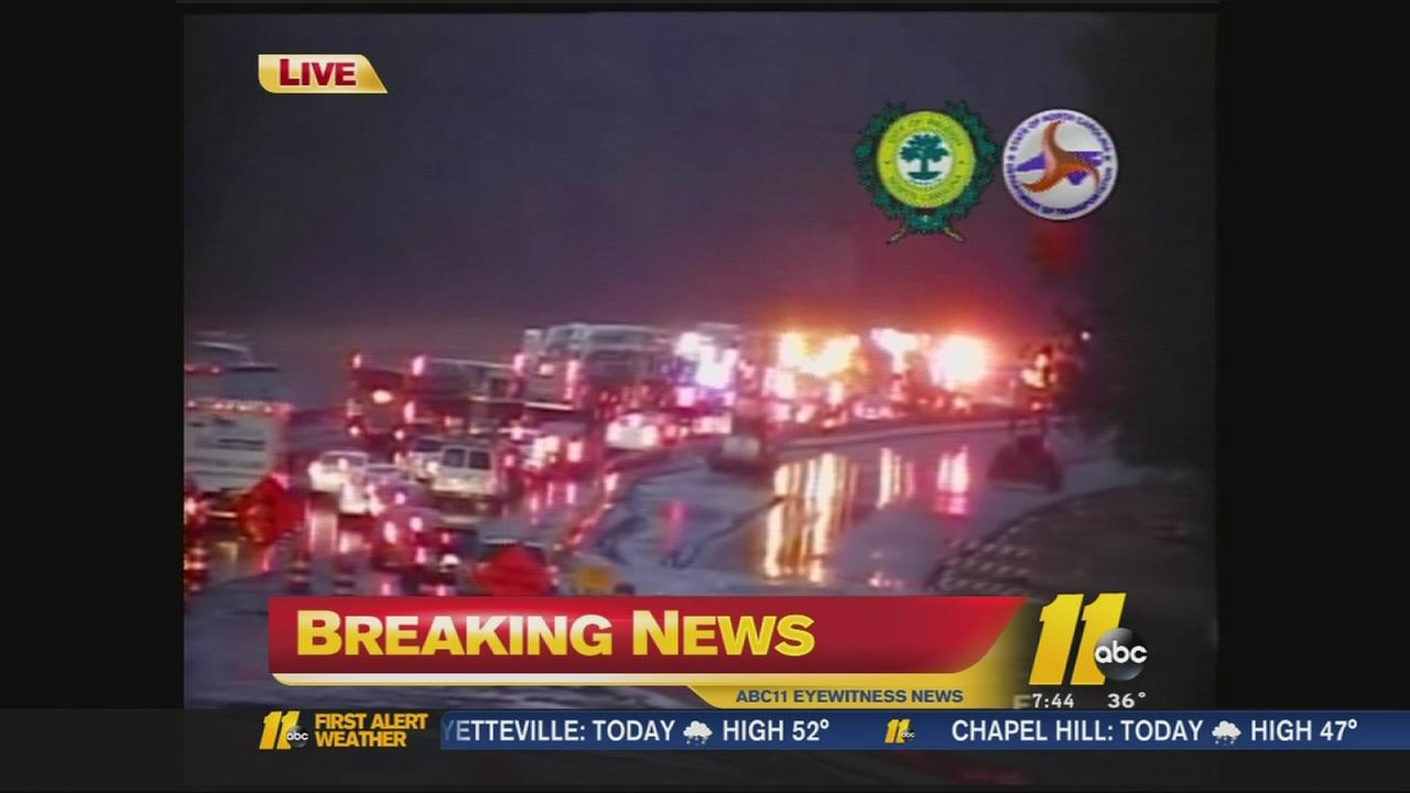 Serious crash causes backups on I-440