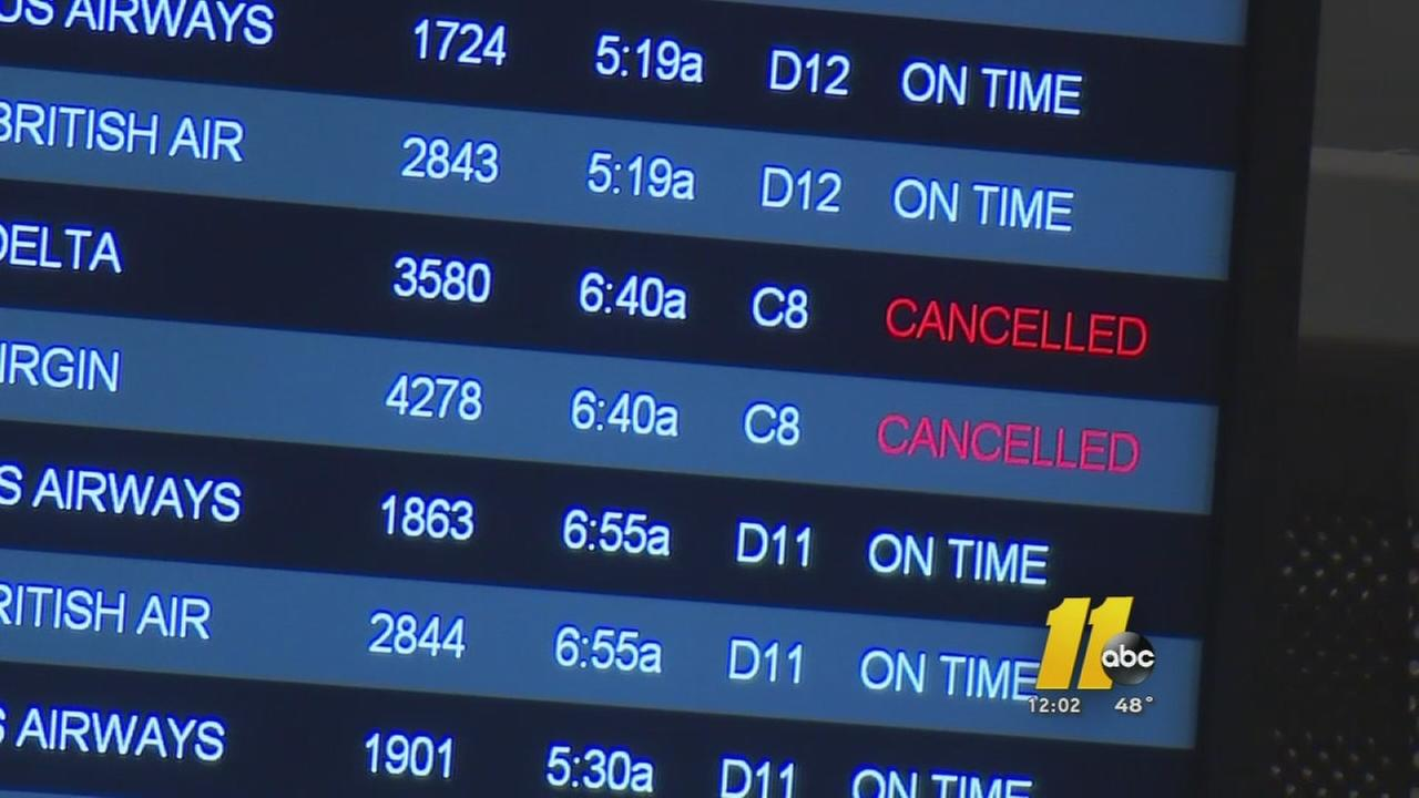 Flights cancelled as snow bears down on Northeast