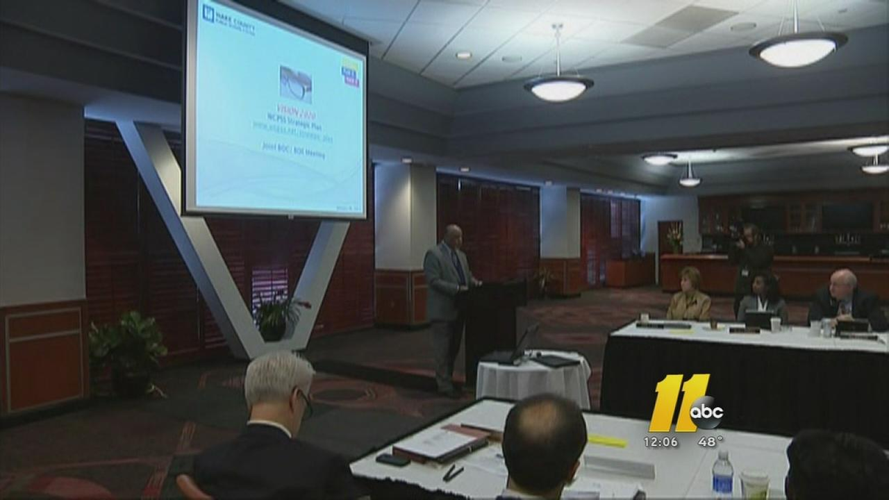 County commission and school board meets in Wake County