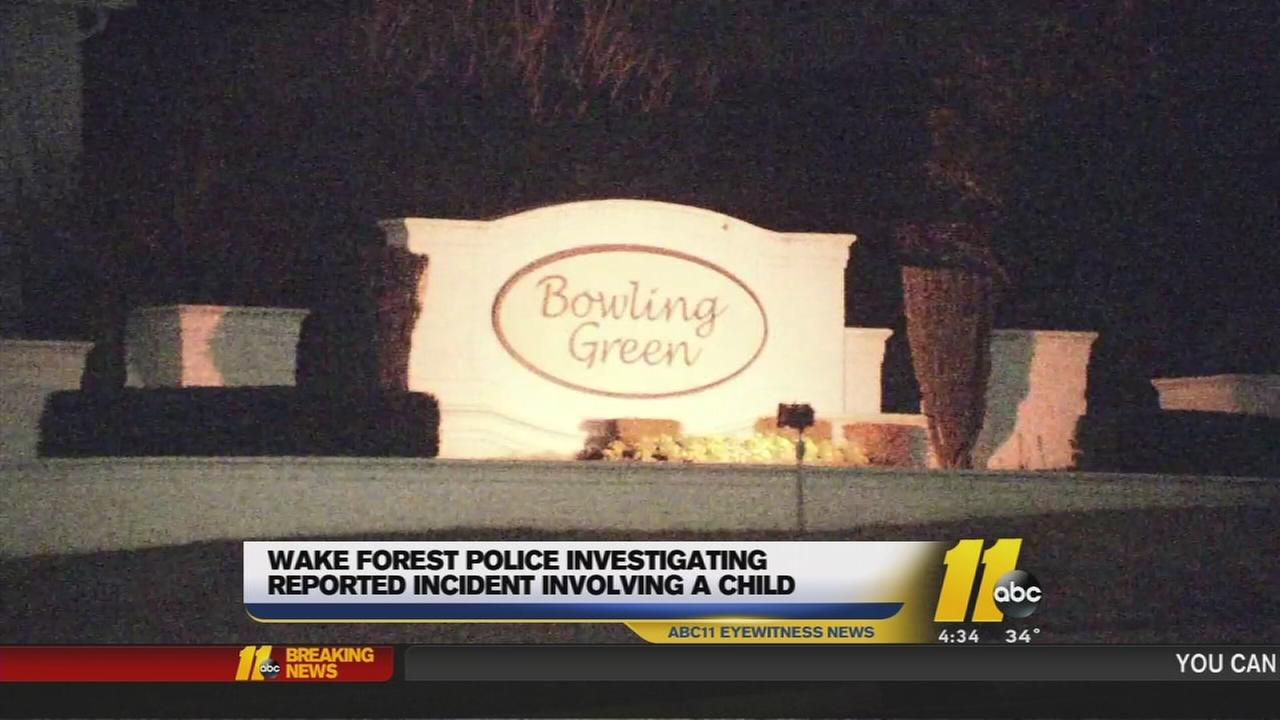 Wake Forest police investigating suspicious incident involving 13-year-old girl