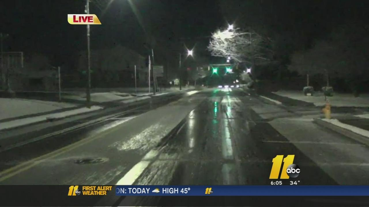 Snow causes school delays