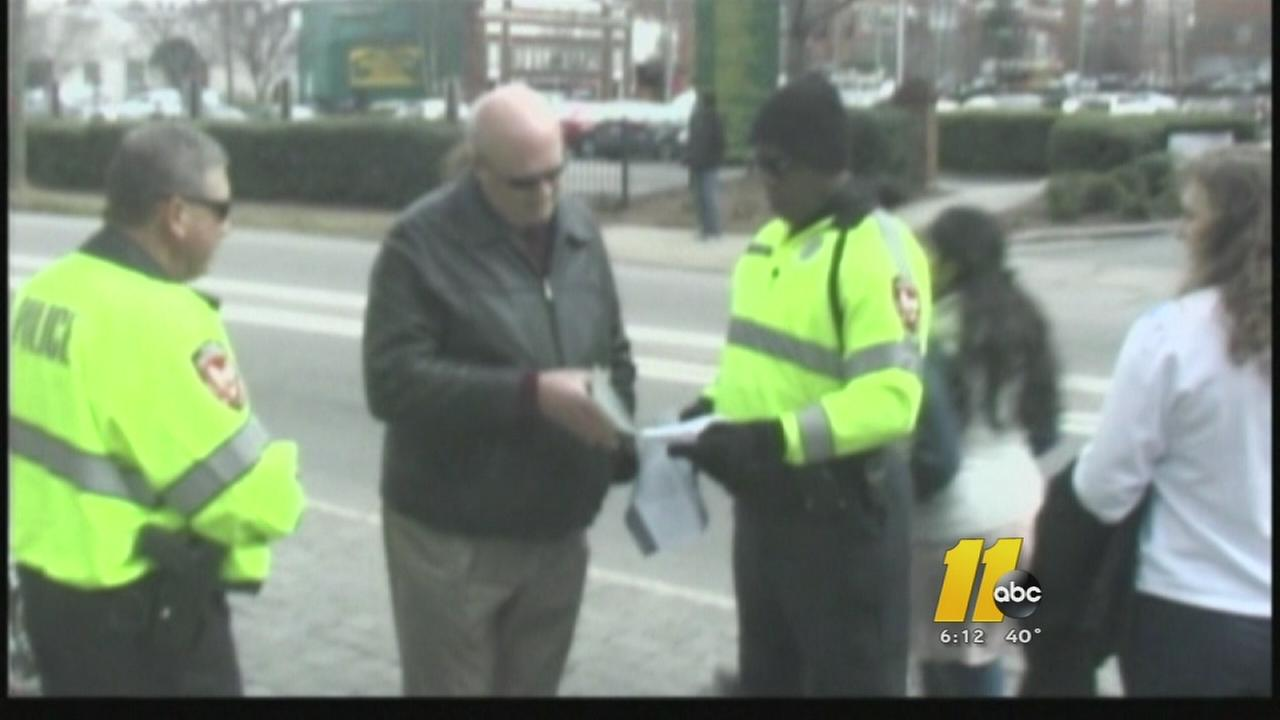 Durham police focus on pedestrian safety