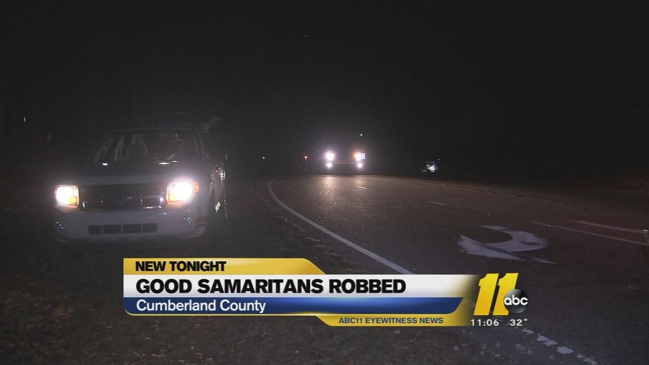 Man robbing Good Samaritans in Cumberland County