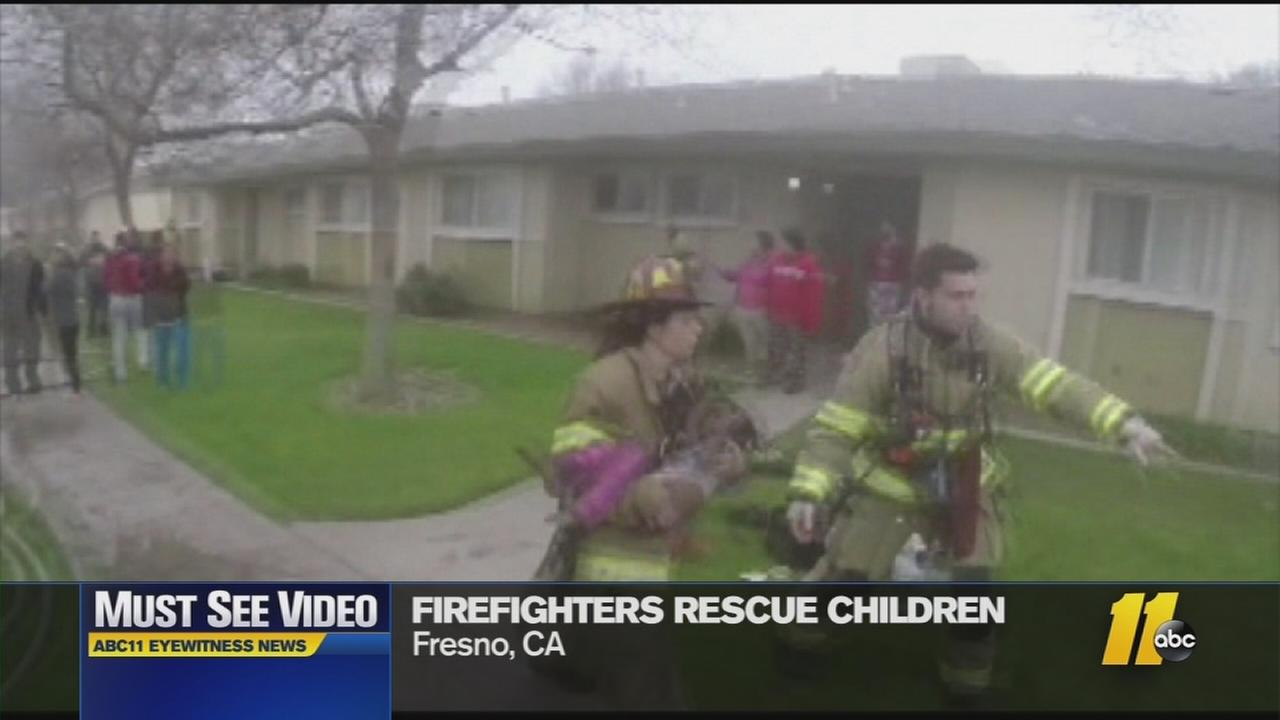 Must-See Videos: Firefighters helmet camera captures rescue