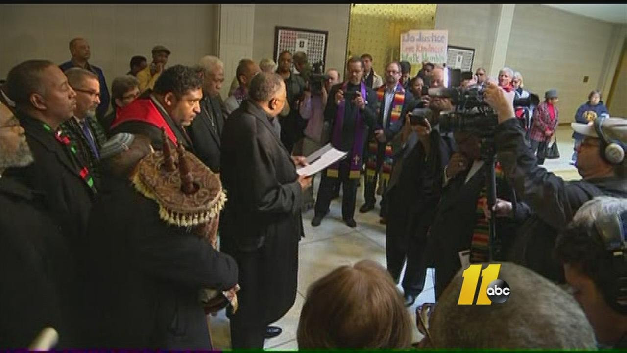 Protestors return to NC General Assembly