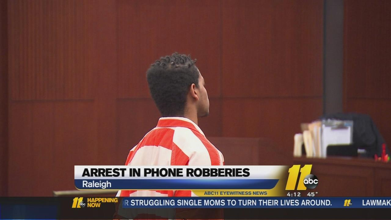 Arrest in phone robberies -- Antionwan Haskins
