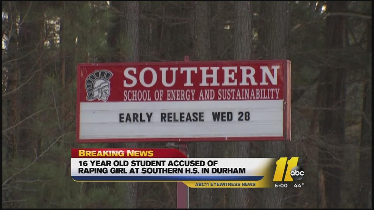 Durham 16-year-old charged with raping minor at Southern High School