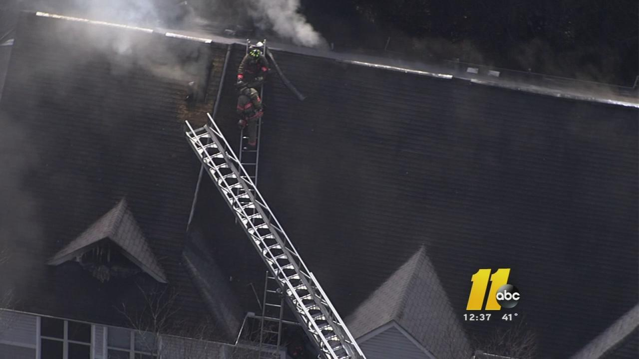 Durham firefighters battle apartment fire