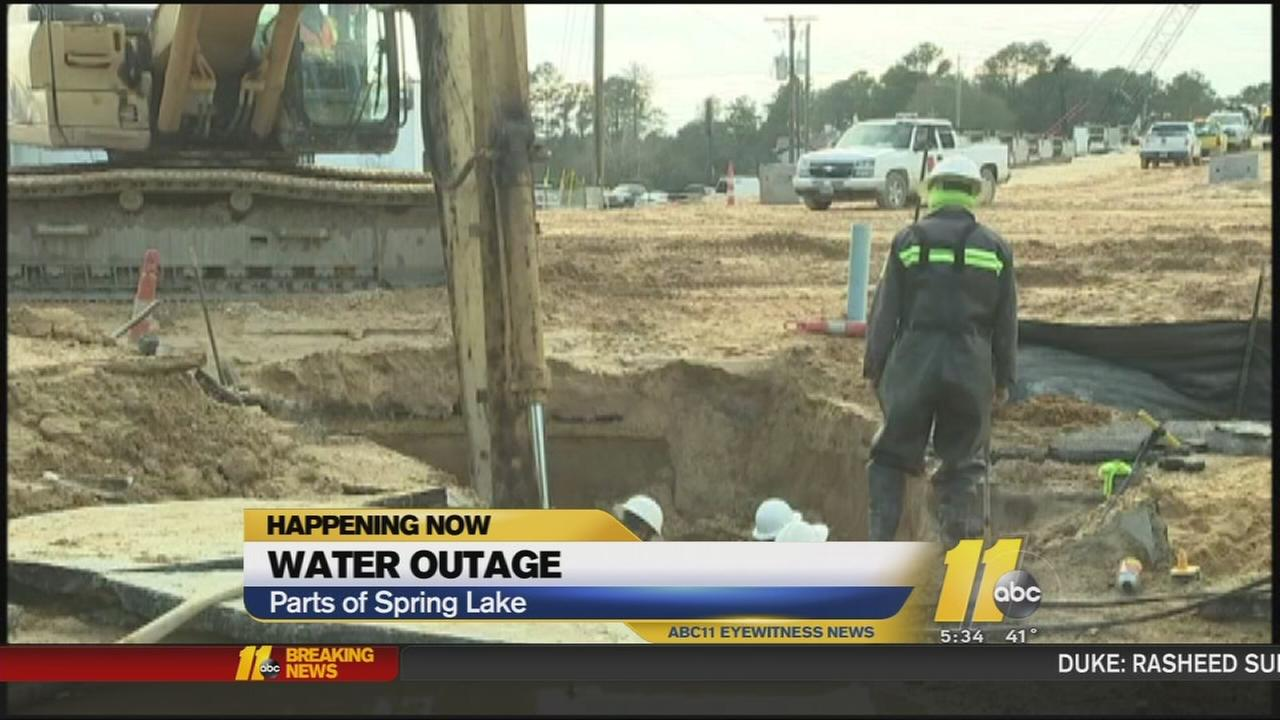 Spring Lake water outage