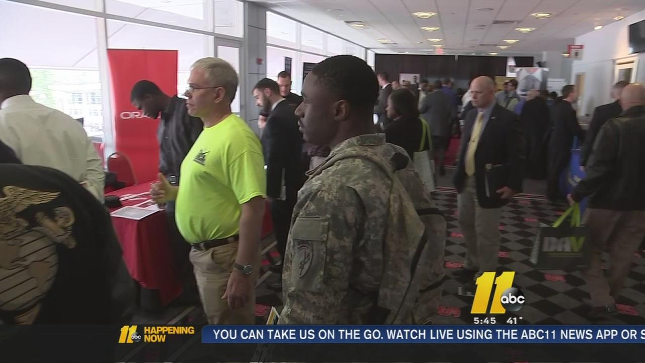 Military job fair held in Raleigh