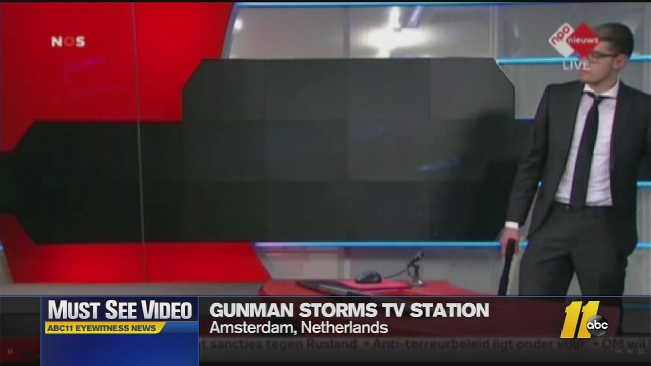 Must-See Videos: Gunman takes over TV station