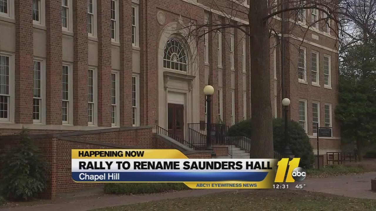 Rally to rename UNC Chapel Hill building