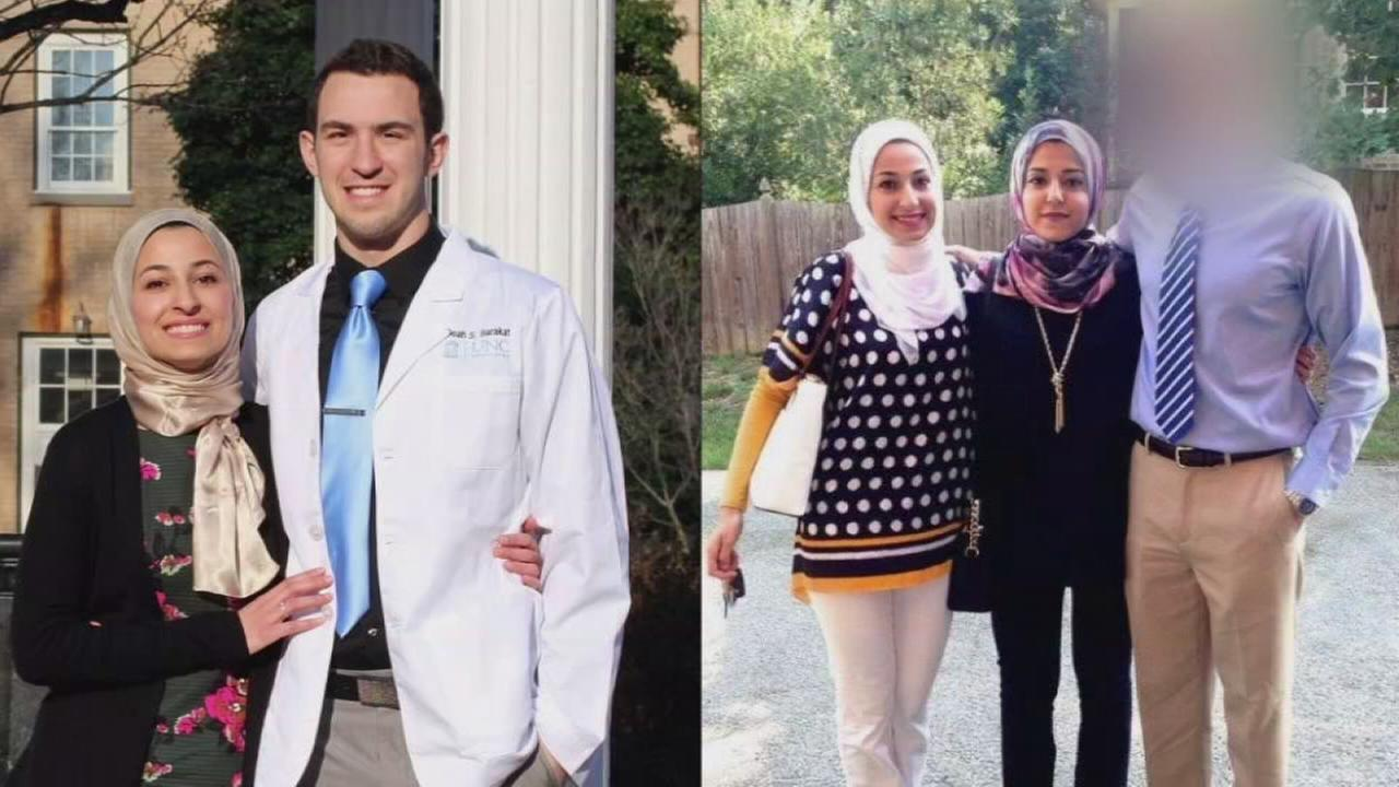 Deah Shaddy Barakat, Yusor Mohammad Barakat, and her sister Razan Mohammad Abu-Salha were all killed.
