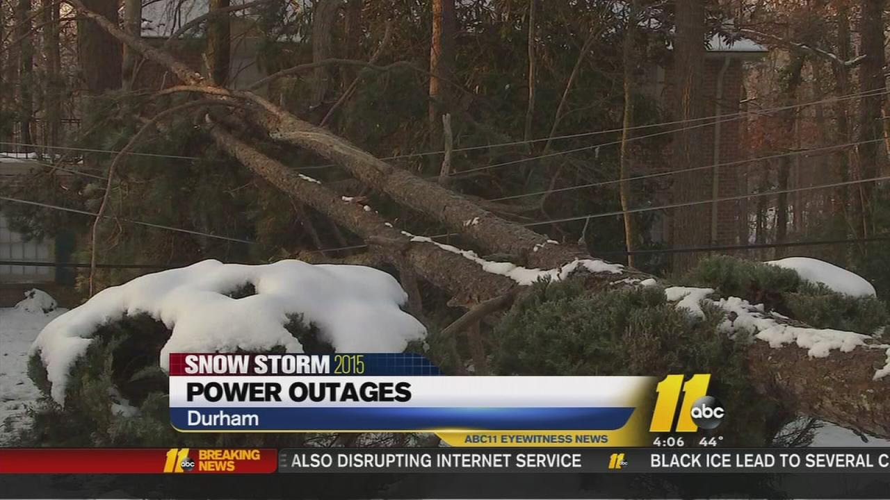 Power outages, black ice threat beginning to decrease