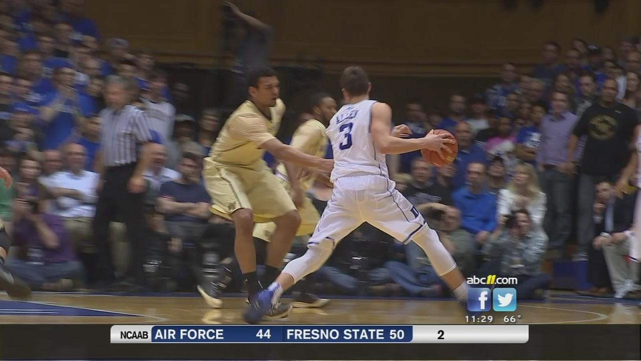 Allen scores 27, No. 3 Duke rolls past Wake Forest 94-51