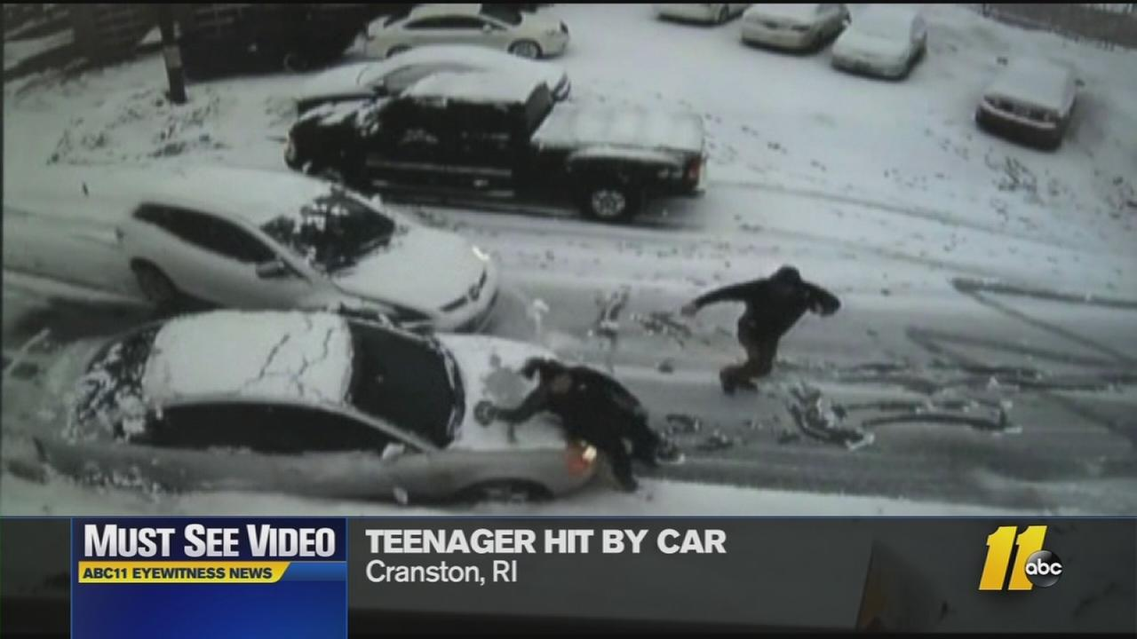 Must-See Videos: Sliding car hits pedestrian