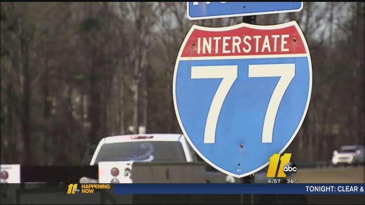 I-77 sign