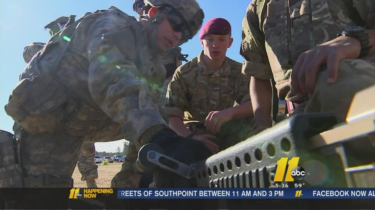 British, American troops train in history-making exercise