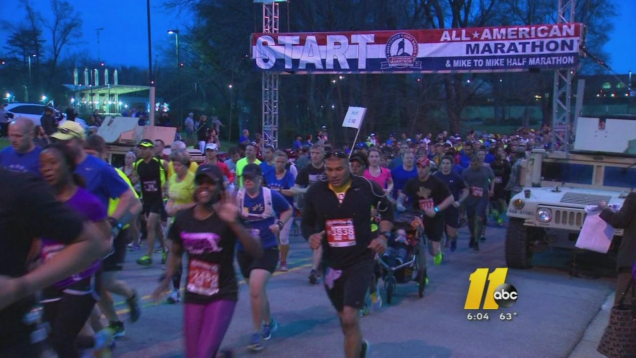 All American Marathon takes place in Fayetteville