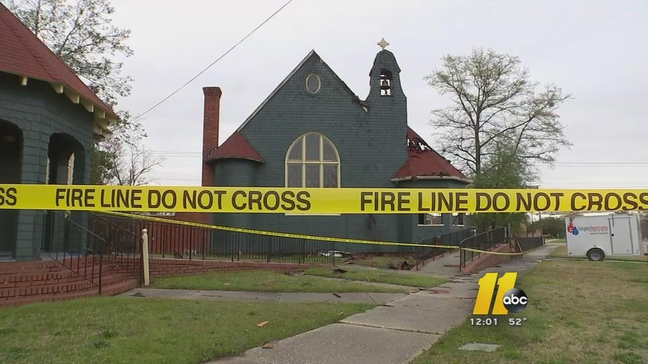 Investigators trying to determine what caused fire at historic Fayetteville church