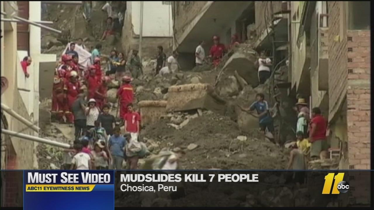 Must-See Videos: Mudslides hit Peru