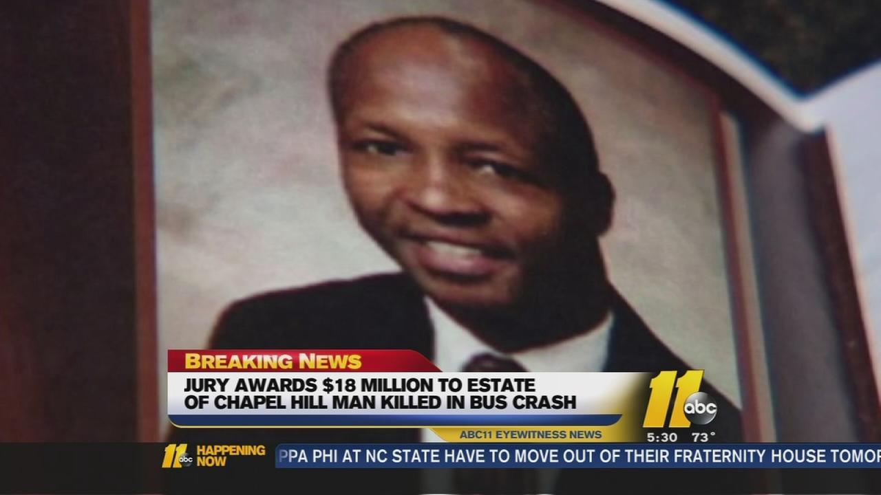 Jury awards $18 million to estate of man killed in bus crash -Doval Watson